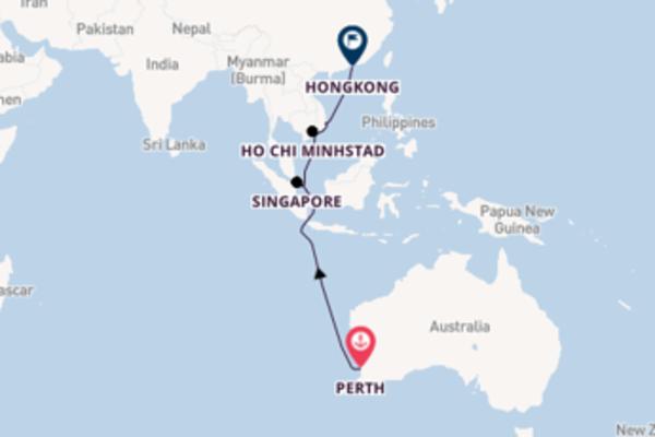12-daagse cruise naar Singapore