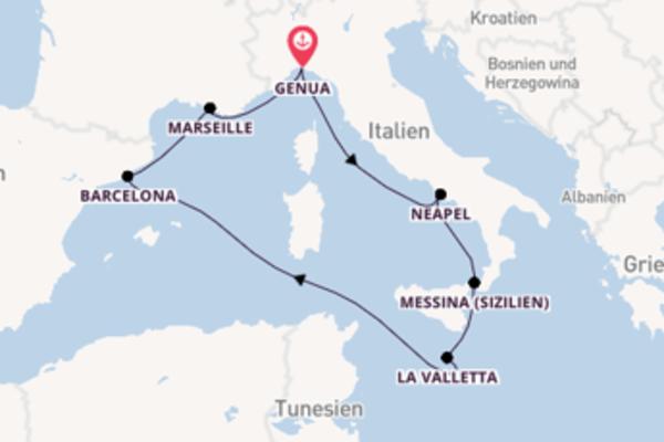Erkunden Sie Neapel auf der MSC Seashore