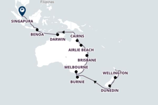 Aventura de 31 dias a bordo do Seven Seas Mariner