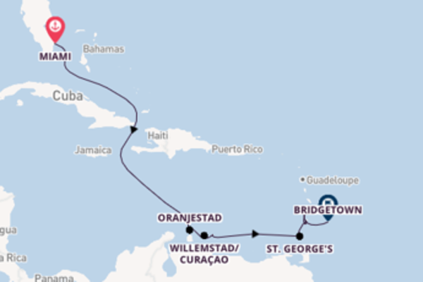 Esaltante crociera da Miami verso Oranjestad