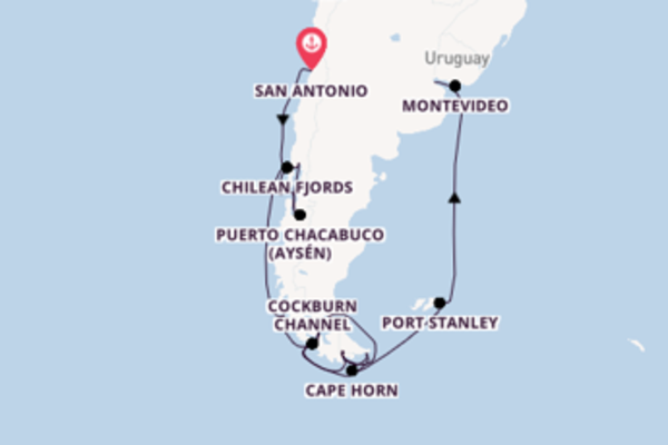 15 day cruise with the ms Westerdam to Buenos Aires