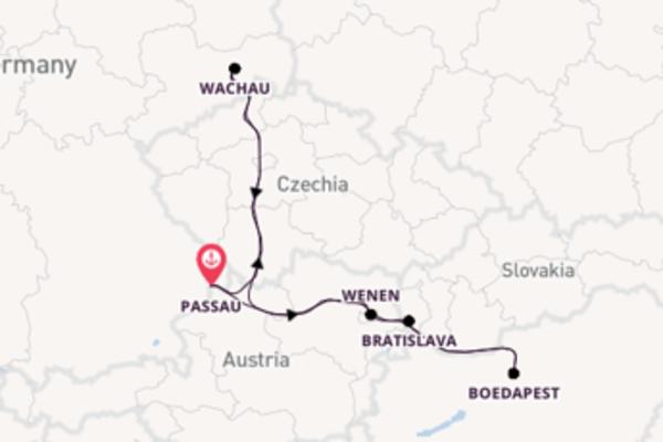 6-daagse cruise naar Bratislava, Slowakije
