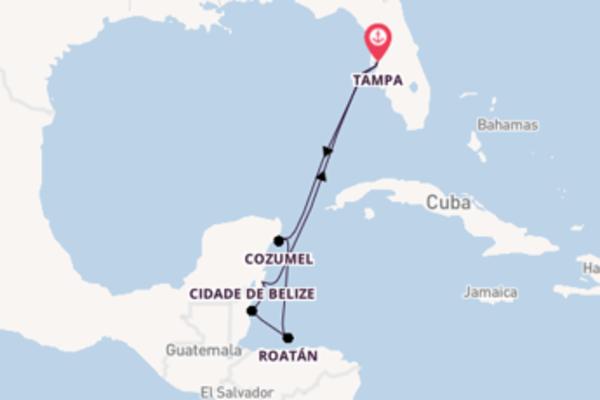 A bordo do Rhapsody of the Seas em um cruzeiro de 8 dias