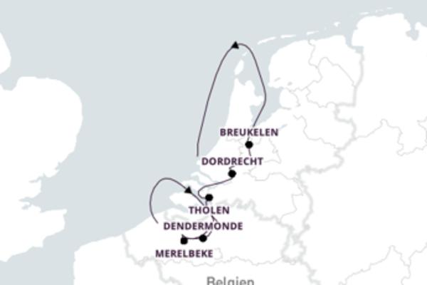 Faszination Belgien und Holland mit Rad & Schiff