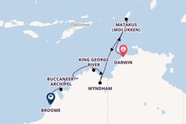 Außergewöhnliche Reise ab Darwin
