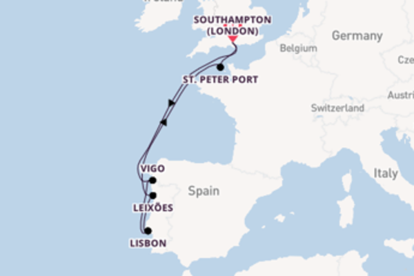 8 day cruise with the Ventura to Southampton (London)