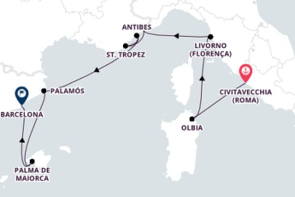Navegue a bordo do Seven Seas Voyager em 9 dias