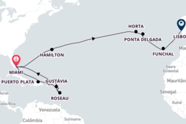 Admirável cruzeiro de 25 dias com a Regent Seven Seas Cruises