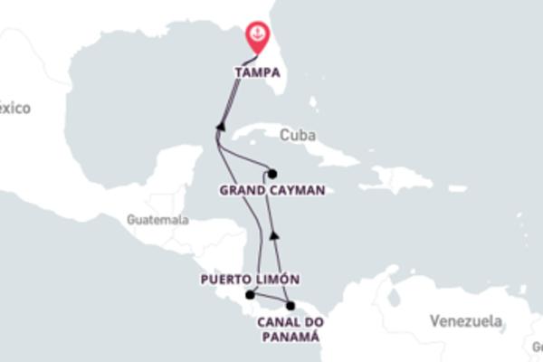 Atravesse o Canal do Panamá saindo de Tampa com o Carnival Legend