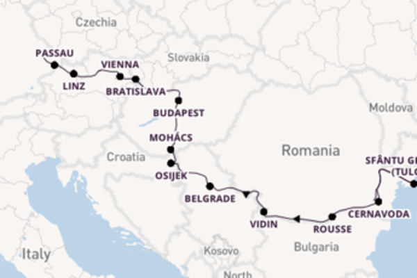 Voyage with Avalon Waterways from Bucharest to Deggendorf