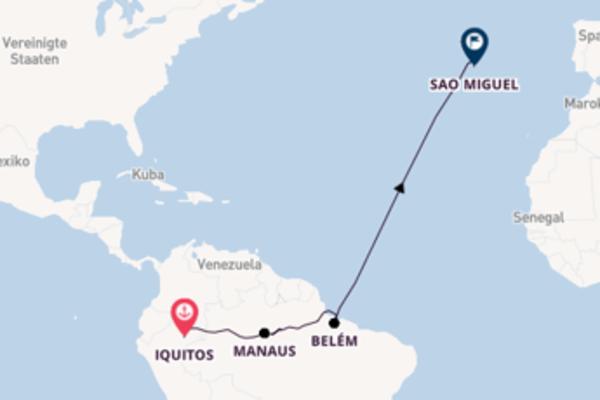 Von Iquitos nach Sao Miguel