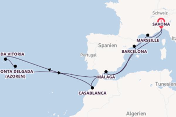 Entdecken Sie 15 Tage Marseille und Savona