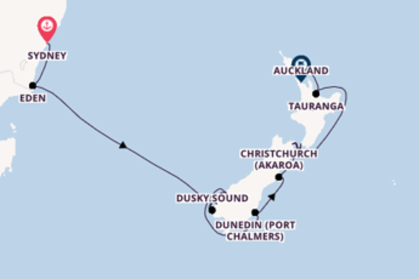 Sailing with Celebrity Cruises from Sydney to Auckland