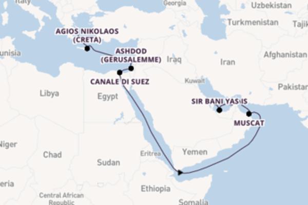 Da Pireo (Atene) a Dubai in 19 giorni