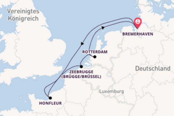 In 6 Tagen nach Bremerhaven