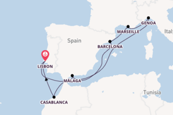 10 day cruise with the MSC Virtuosa to Lisbon