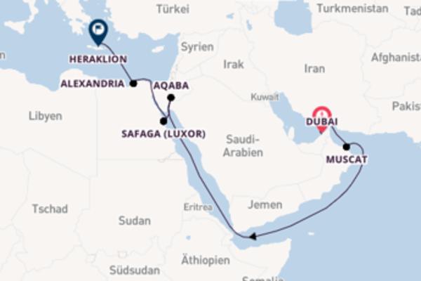 Erkunden Sie 16 Tage Aqaba und Heraklion