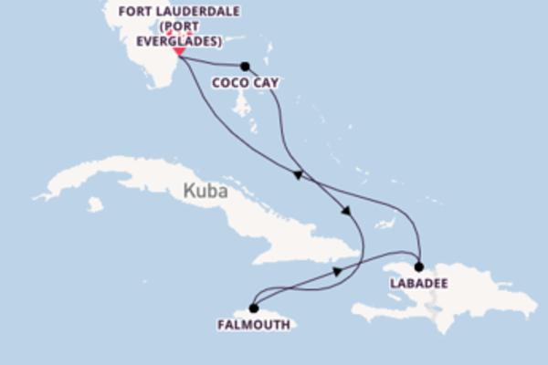 Beeindruckende Kreuzfahrt über Coco Cay ab Fort Lauderdale (Port Everglades)