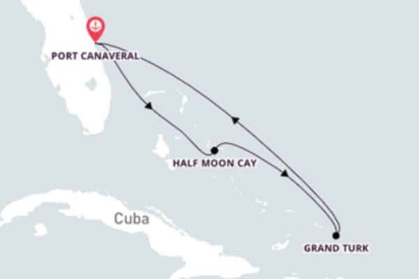 Navegando a bordo do Carnival Radiance por 7 dias