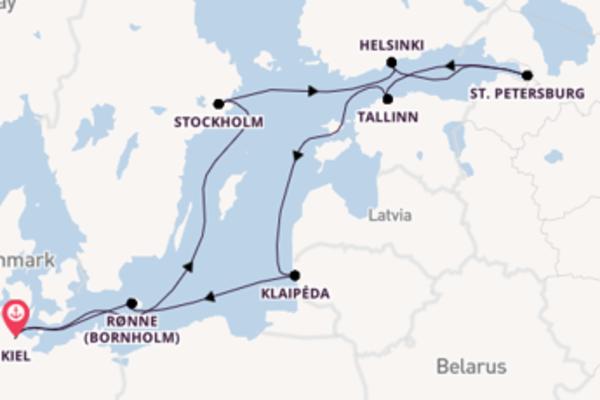 9-daagse reis aan boord van de Artania
