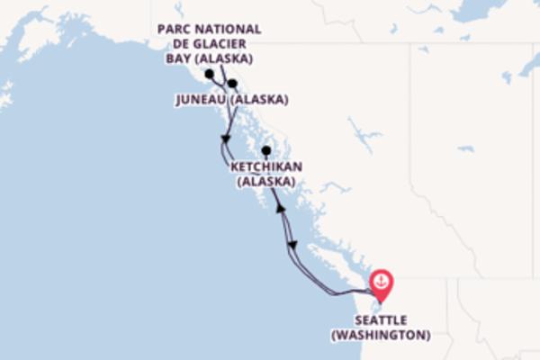 Découvrez avec Norwegian Cruise Line , la destination: Skagway