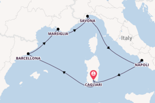 Rilassante viaggio di 7 giorni verso Cagliari