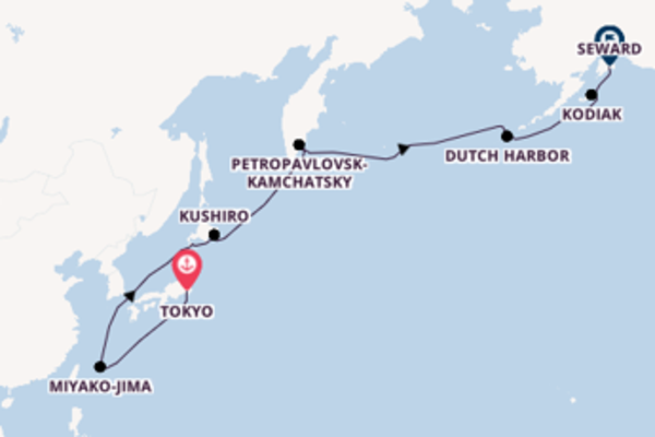 Cruise with the Silver Whisper to Seward from Tokyo