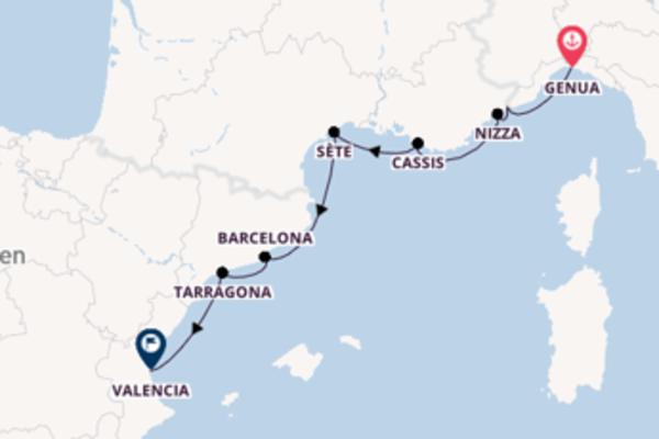 In 9 Tagen nach Valencia über Menton (Nizza)
