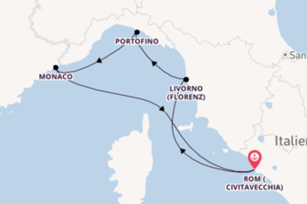 Kreuzfahrt mit der The Ritz-Carlton Yacht nach Rom (Civitavecchia), Italien