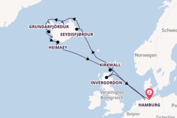 Kreuzfahrt mit Ocean Majesty von Hamburg, Deutschland nach Bremerhaven, Deutschland