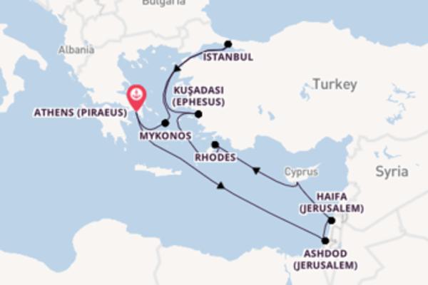 10 day cruise with the Norwegian Jade to Athens (Piraeus)