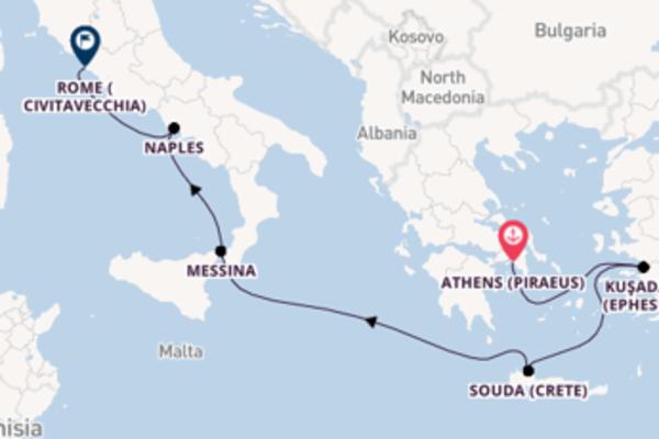 Sailing with Viking Ocean Cruises from Athens (Piraeus) to Civitavecchia (Rome)