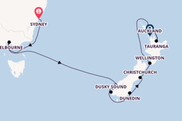 13 Tage Neuseeland Kreuzfahrt