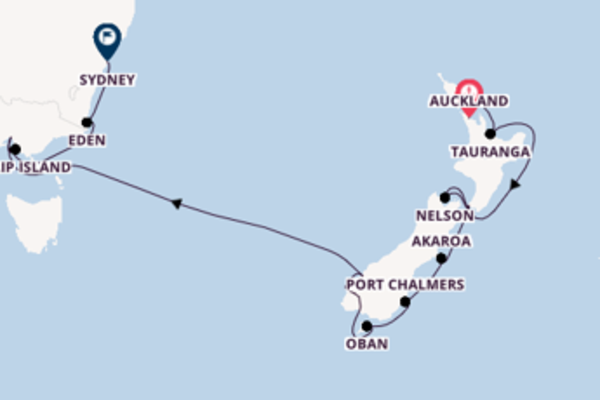 Estasiante viaggio verso Sydney