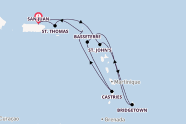 San Juan und Bridgetown erkunden