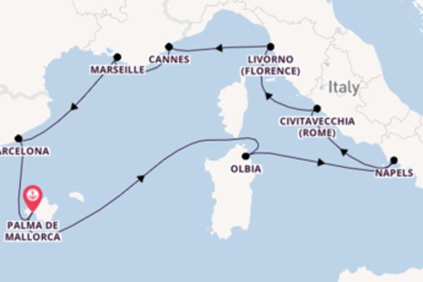 Cruise met AIDA naar Marseille