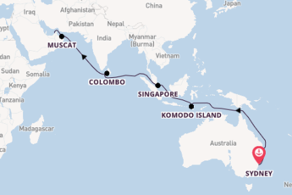 Sydney to Dubai on Coral Princess