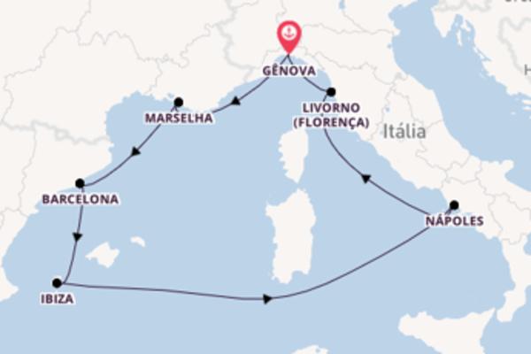 Majestosa viagem de 8 dias com o MSC Seaside