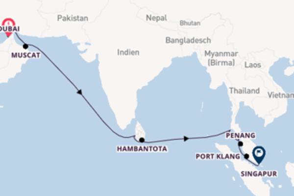 Kreuzfahrt mit der Mein Schiff 5 nach Singapur