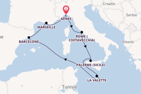 8 jours pour découvrir Barcelone au départ de Gênes