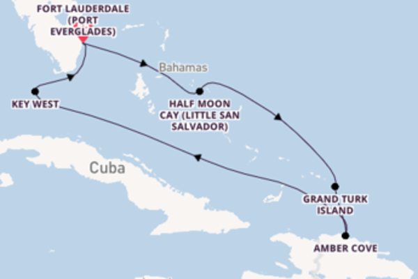 Voyage from Fort Lauderdale with the ms Nieuw Amsterdam