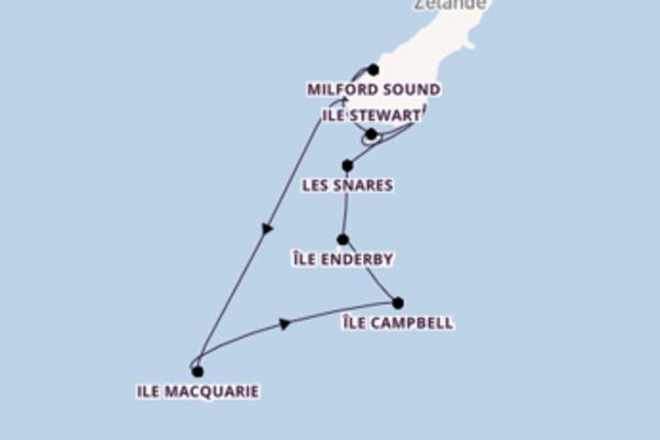 Croisière de 15 jours vers Dunedin avec Silversea