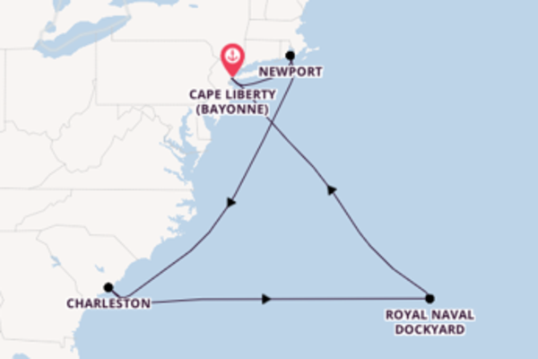 Voyage from Cape Liberty (Bayonne) with the Celebrity Summit