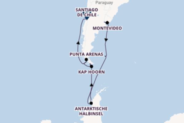 Erleben Sie Buenos Aires, Montevideo und Santiago de Chile