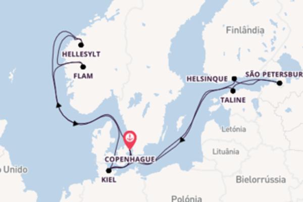 A bordo do MSC Virtuosa em um cruzeiro de 15 dias