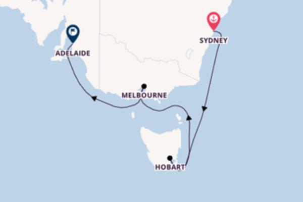 Cruise met Princess Cruises naar het avontuurlijke Adelaide