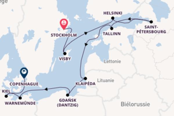 11 jours pour découvrir Saint-Pétersbourg à bord du beateau Norwegian Dawn