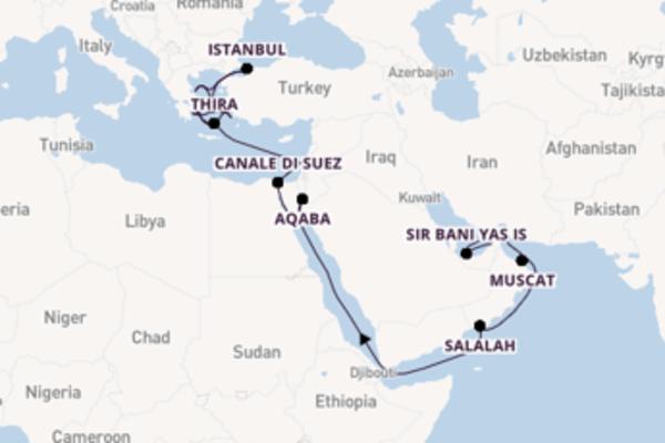 A bordo di Seabourn Ovation da Dubai