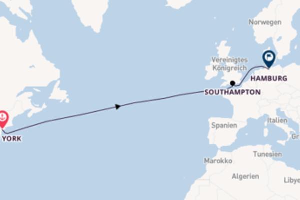 Ozeanüberquerung ab New York bis Hamburg