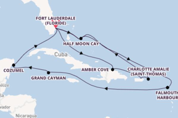 Croisière de 15 jours depuis Fort Lauderdale (Floride) avec Holland America Line